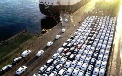 Primeiro embarque de automóveis da Autoeuropa em Leixões realizado com êxito