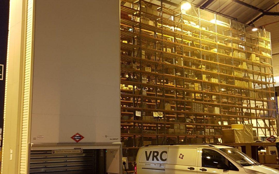 Metro Madrid instala armazém com a VRC