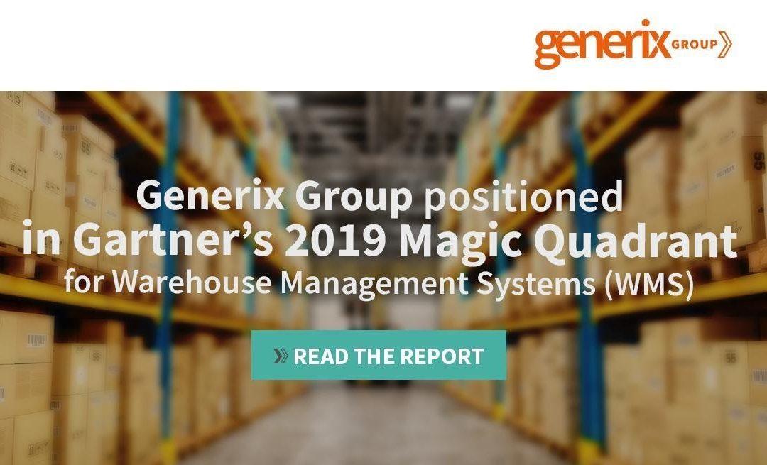 Generix Group no Magic Quadrant 2019 da Gartner para Sistemas de Gestão de Armazéns
