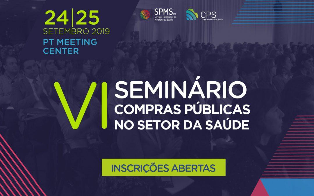 Abertas as inscrições para o VI Seminário de Compras Públicas na Saúde