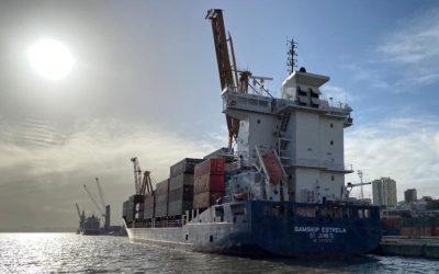 Porto de Lisboa estreia novo serviço regular de contentores