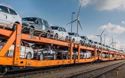 Volvo Cars substitui a rodovia pela ferrovia