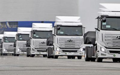 Suíça recebe os primeiros 10 camiões Hyundai a hidrogénio