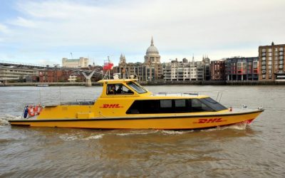 DHL inaugura serviço de transporte fluvial em Londres