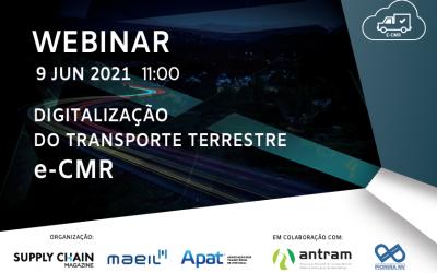 Webinar Digitalização do Transporte Terrestre e-CMR é já dia 9 de Junho