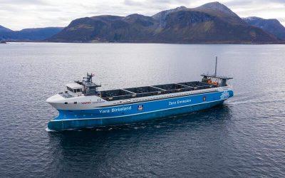 Primeiro navio de zero emissões, sem tripulação e de carga autónoma